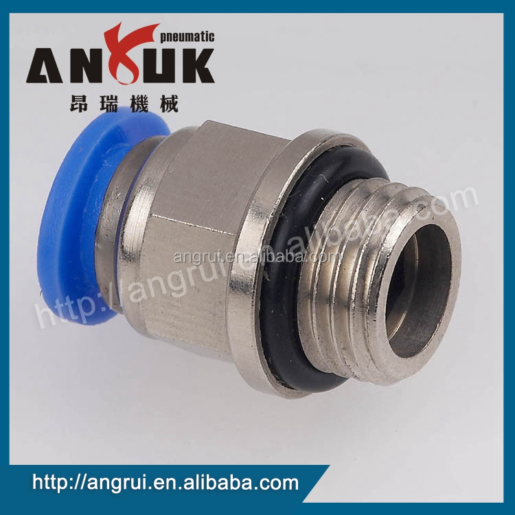 Wholesale PC Male Connector Straight zinc fitting, quick pneumaitc fitting
