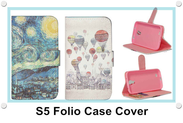 Magnetic PU Leather Flip Case Cover Card Holder Pocket Cell Phone Case for Samsung Galaxy S5 S5 mini