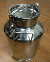 series stainless steel mini milk can 40L for cow/goat milking machine/used stainless steel milk cans