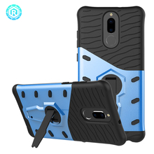 Hot design cell phone case for huawei maimang 6 hybrid sniper back cover with kickstand