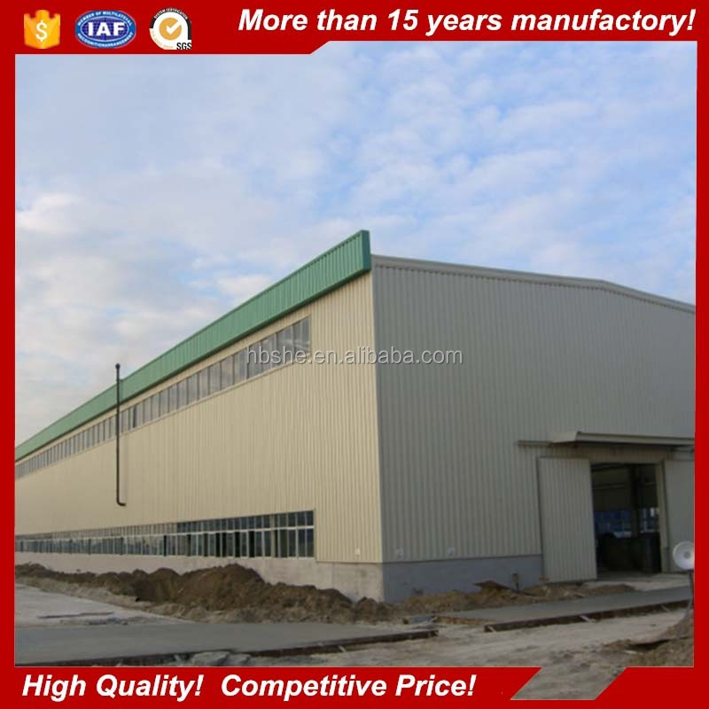 PU sandwich panels steel structure warehouse