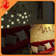 New Removeble Wall Sticker Night Glow Wall Sticker with Glitter Powder