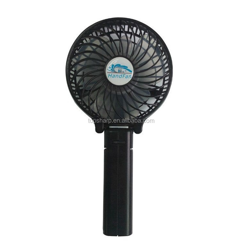 Salable promotions foldable usb rechargeable portable outdoor handheld mini fan