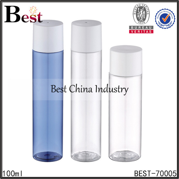 100ml colorful empty pet plastic water bottle with screw cap