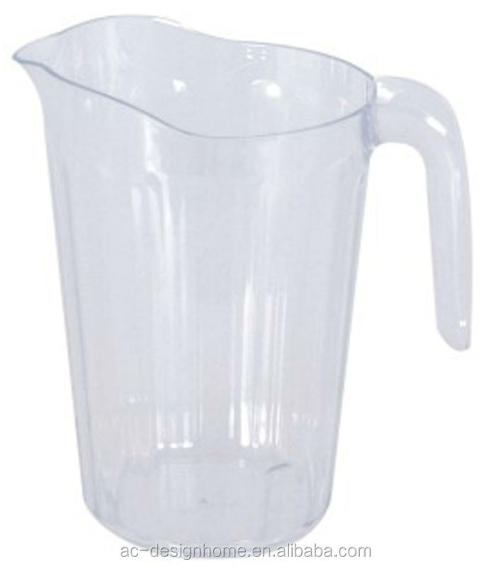 CLEAR 2L ROUND PS PLASTIC WATER PITCHER