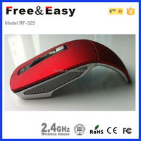 Wireless 2.4G arc foldable mouse