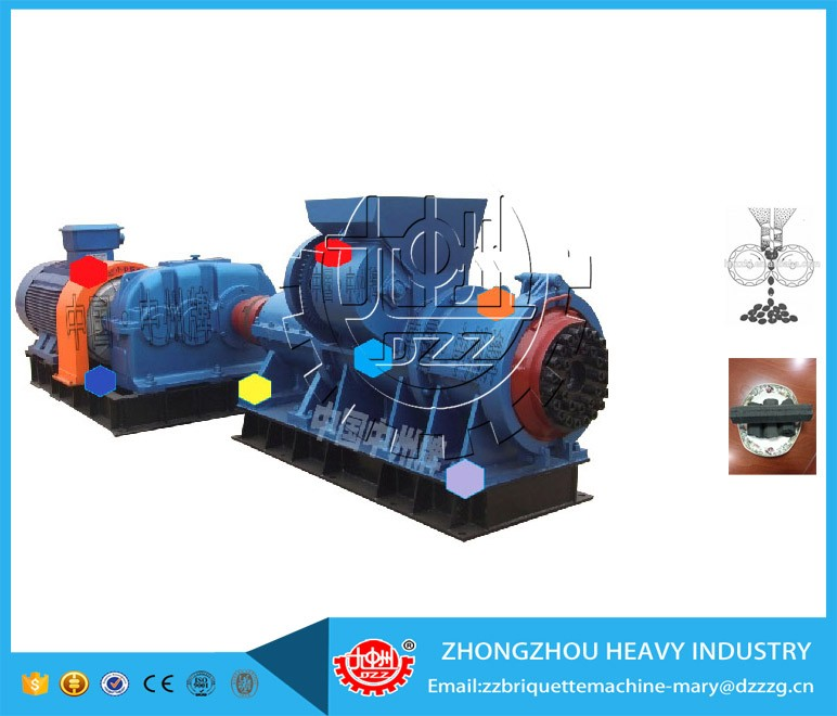 Energy-saving and ISO standard coal rods extruder machine