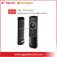 Egreat AK84 Multifunction 2.4 G Air Mouse Mini Wireless Keyboard & Infrared Remote Control 1. 3-in-1 2.4G Wireless mini keyboard