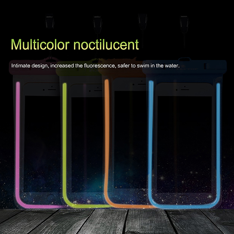 Luminous colorful waterproof case for samsung galaxy j3 j5