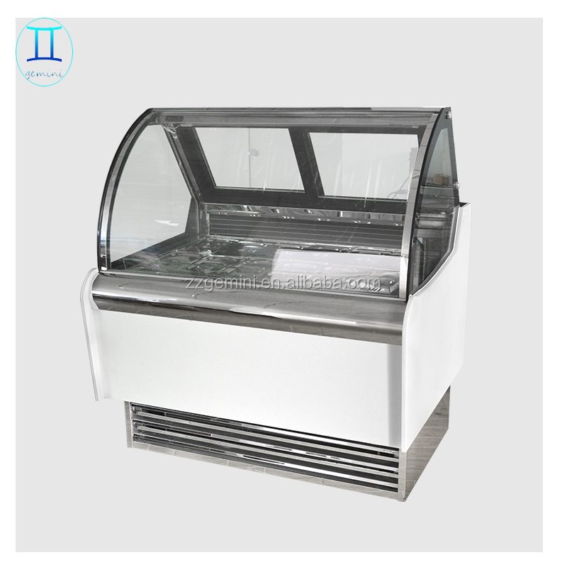Guangdong factory Italian gelato showcase / commercial upright mini ice cream display case freezer