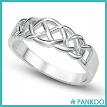 Wholesale 925 Sterling Silver Fashion Knot Band Ring