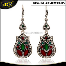 fashion earrings designs antique silver filled earring jewelry alloy material earring for women