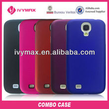 9500 PC+silicone Combo Case for Samsung Galaxy S4 mobilephone pouch