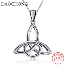 High Quality Top Sale 925 Sterling silver triangle Celtic knot pendant necklace for women