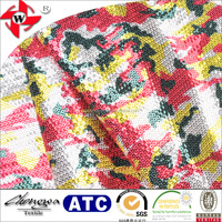 Camouflage Design Decoration Sequin Embroidery Fabric with 100% Polyester Material