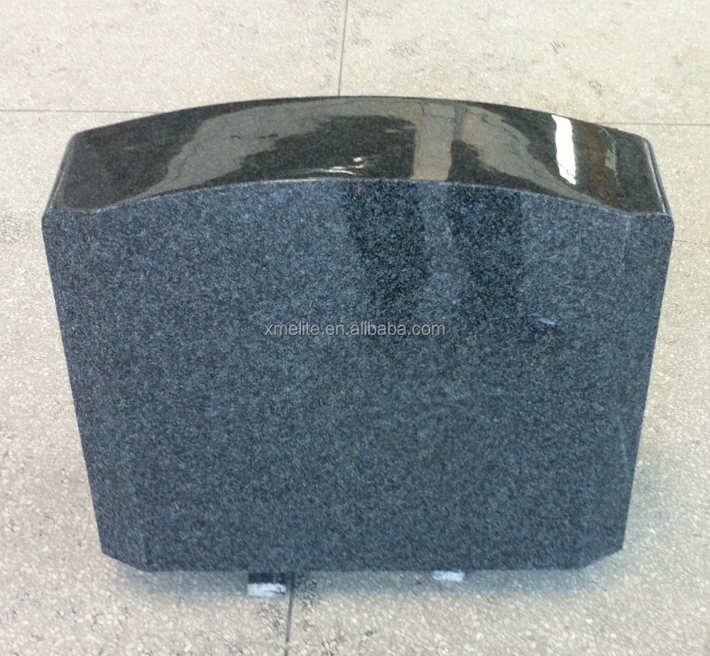 Light Pearl Blue Granite Tombstone/Headstone