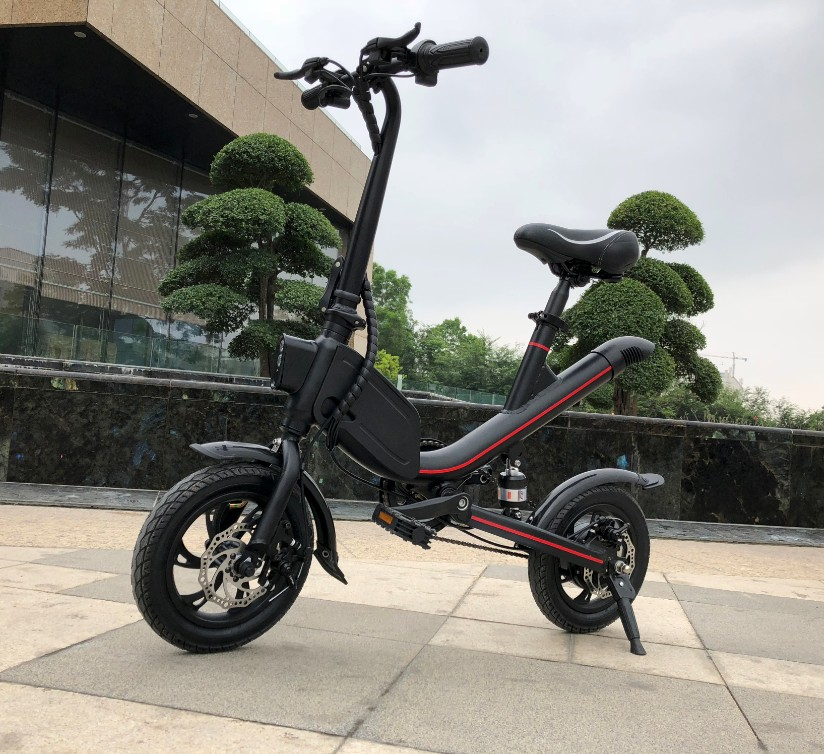 500W Fat Tire Folding Electric Bike with pedals/12inch Foldable Ebike With Very Cheap Price
