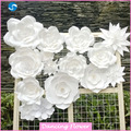 Customized handcraft wall paper flowers for decorations