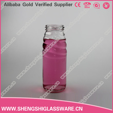 Custom 50 ml to 1000 ml glass bottle in different shapes , juice glass bottle with lid