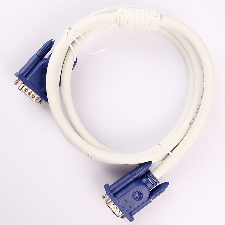 Factory sale VGA Cable with ferriter core for computer TV HDTV