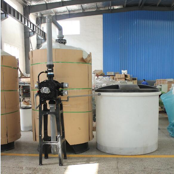 30T/H Manual Industrial Water Softener with Salt Tank