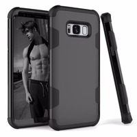 [KAYOH]For Samsung Galaxy S8 Plus 3 in 1 With PC Bumper Ccreen Protector Phone Cases For Samsung