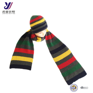 JYT0F5 Fashion Canadian knitting scarf+ hats + gloves sets (can be customized)