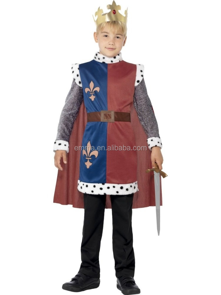 King Arthur Boys Medieval Kings Knight Fancy Dress Costume BC12274