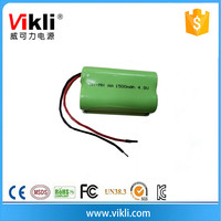 AA 4.8V Ni-Mh rechargeable battery pack with 1500mah capacity