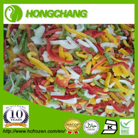 Chinese New Crop IQF frozen mixed bell Pepper