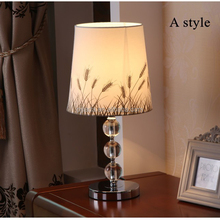 Simple and stylish modern crystal bedside table lamp factory direct wholesale cordless crystal chandelier table lamp