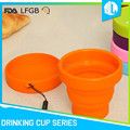New design colorful folding silicone bulk cups