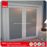 Painting color MDF sliding pocket door with frosted glazing