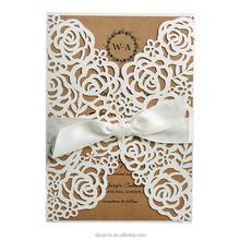 Wholesale satin wedding invitations wedding invitations with ribbon