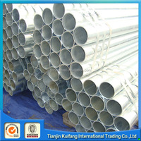 Tianjin factory construction material ERW round steel tube/pipe