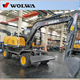 Chinese Cheap 8T Wheel Hydraulic Excavator from wolwa