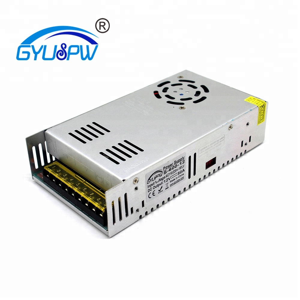 DC Power Supply 12V 50A 600w Led Driver Transformers AC110V 220V to dc12V SMPS Power Adapter for strip lamp Light CNC CCTV