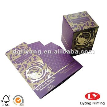Luxury Candle packaging Paper Box with Foil Stamping
