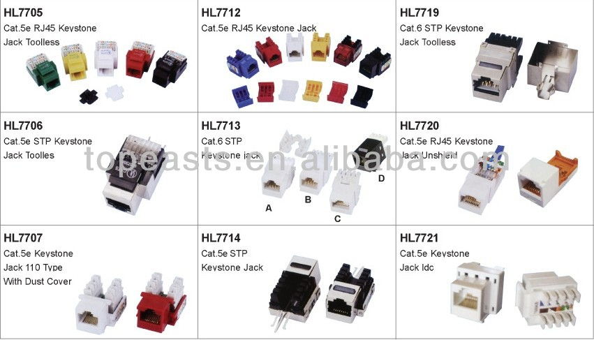 10 pin rj45 connector rj45 to rj11 adapter