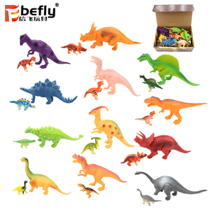 "Dinosaur figures toy family set Of 12 Large 7"" and 12 Mini 1"""