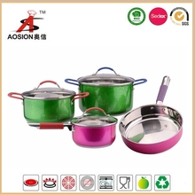 stainless steel 7pcs multi cooker cookware