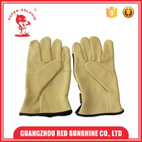 Superior soft cow grain leather working gloves