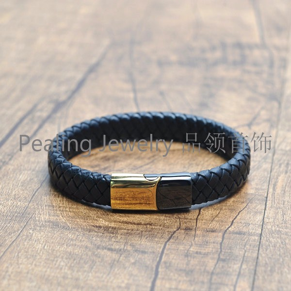 New Fashiondouble Leather Bracelet with hook clasp