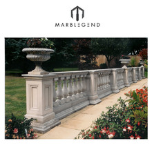 PFM decorative outdoor Natural limestone stone baluster railing