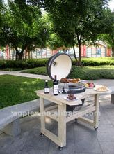 21' kamado bbq grill /ceramic charcoal bbq grill with table