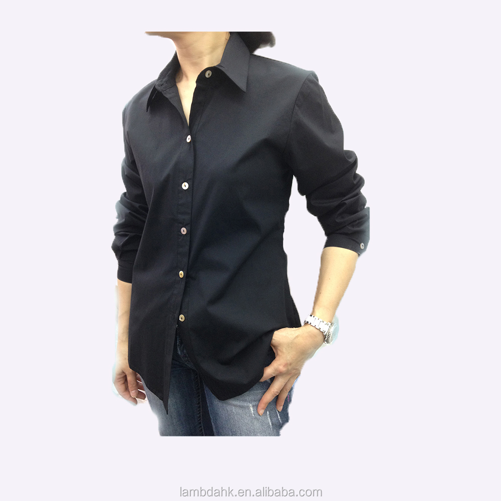 ladies blouse long sleeve women shirt cotton spandex