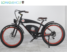 Wholesale Cheap 2012 NEW Cool Black Color Harley Chopper 48V 500W Electric Bike + 48V 10AH Li-ion Battery