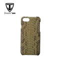 New Fashionable Python Snake Skin Mobile Phone Accessories Case Top Quality Leather Cell Phone Case
