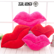 Zealhoney Sexy Lip Neck Pillow 100% Cotton Seat Cusion Direct Sale