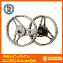 cy80 spare parts alloy rim wheel for motorcycle